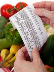 A grocery shopping receipt