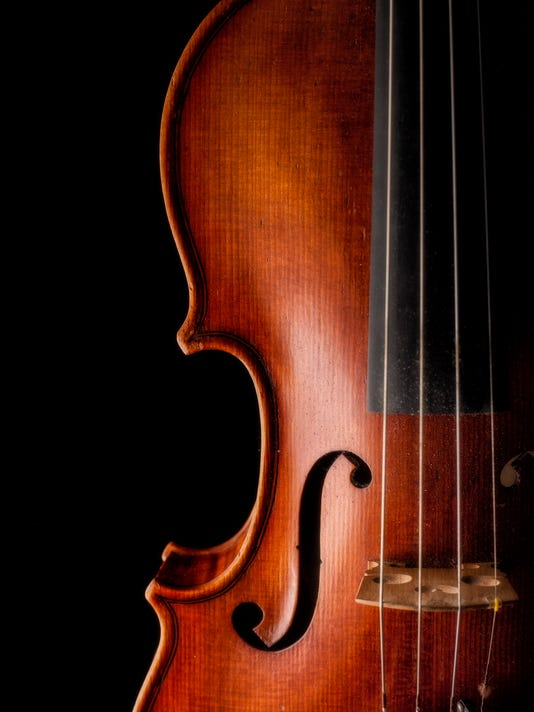 Violin close up on dark background