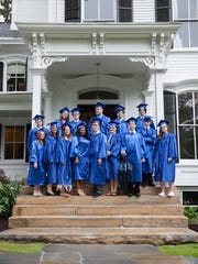 In this file photo from June 2017, Soundview Preparatory School graduates celebrate their commencement ceremony at the school in Yorktown Heights.
