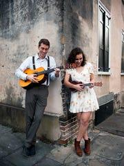 Folk duo Nathan  and Eva Leach from South Carolina
