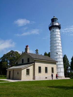 The Cana Island Lighthouse was built in 1869.