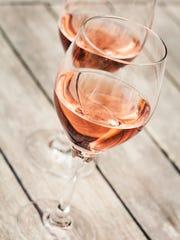Rose wines come in many different shades, but most are a distinct pink.