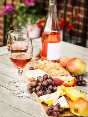 Picnics and rose go hand-in-hand: sommelier Jeff Anderson said the wine is extremely food-friendly, and refreshing in hot weather.