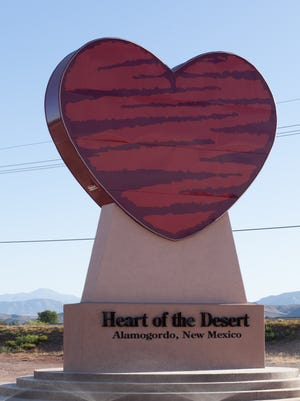 Heart of the Desert revealed its 26 ft. lighted heart sign at their U.S. Highway 54/70 location earlier this month.