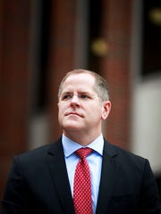 Kris Knochelmann, the judge-executive for Kenton county, outside the Kenton County Building.