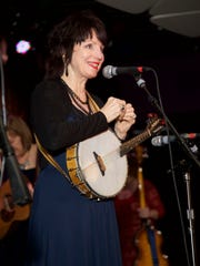 Ann Savoy, a member of local band the Magnolia Sisters, performs live at the Only in Louisiana luncheon at the Conga Room on the eve of the Grammy Awards.