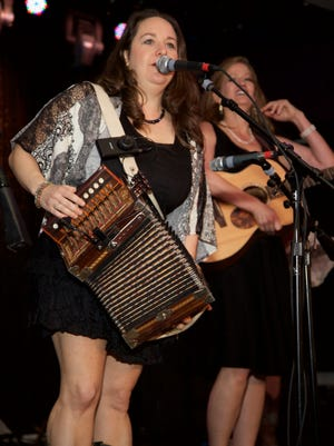 Grammy nominees Bonsoir Catin, which includes Kristi Guillory (left) and Christine Balfa, perform May 8 at Downtown Alive!