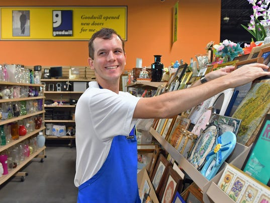 Deaf Goodwill employee Andrew Howes