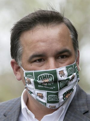 Columbus Mayor Andrew J. Ginther last week ordered residents to wears masks in public. On July 6, Columbus City Council added fines for people who don't.