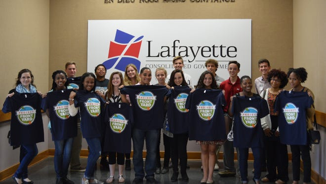 Lafayette Junior Leadership participants learn more about Project Front Yard at Lafayette Consolidated Government.