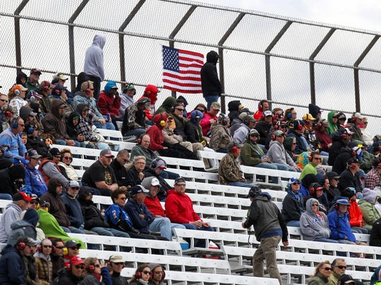 Empty seats during the AAA 400 Drive For Autism at