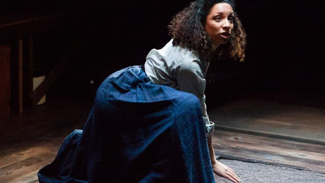"""Kayla Jackmon of Actors Theatre of Lousiville's apprentice company in """"A Buried History"""" by Jeff Augustin, which is part of the production """"That High Lonesome Sound"""" in the 2015 Humana Festival of New American Plays."""