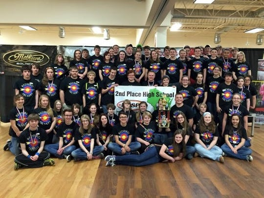 The De Pere High School archery team took second in the state tournament.
