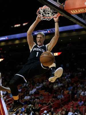 Nets center Mason Plumlee has been a force around the rim.