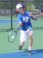 Peter Laskey of Highlands during the 10th Region Tournament.