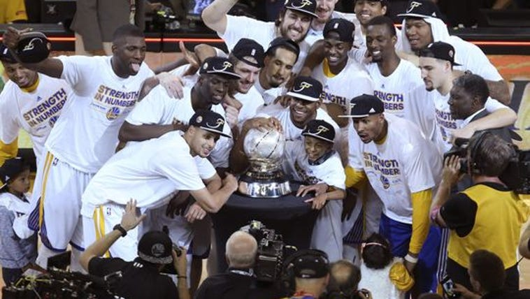 The Golden State Warriors beat the Houston Rockets
