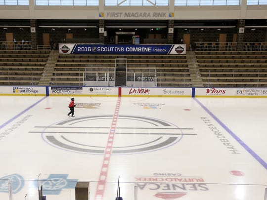 One of the rice rinks in the Harbor Center hosts events