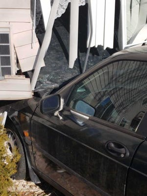 A four-door car crashed into a first-floor apartment Sunday, March 25, 2018, at Golfview Estates Apartments, 265 Whispering Springs Drive, according to Fond du Lac Fire/Rescue.