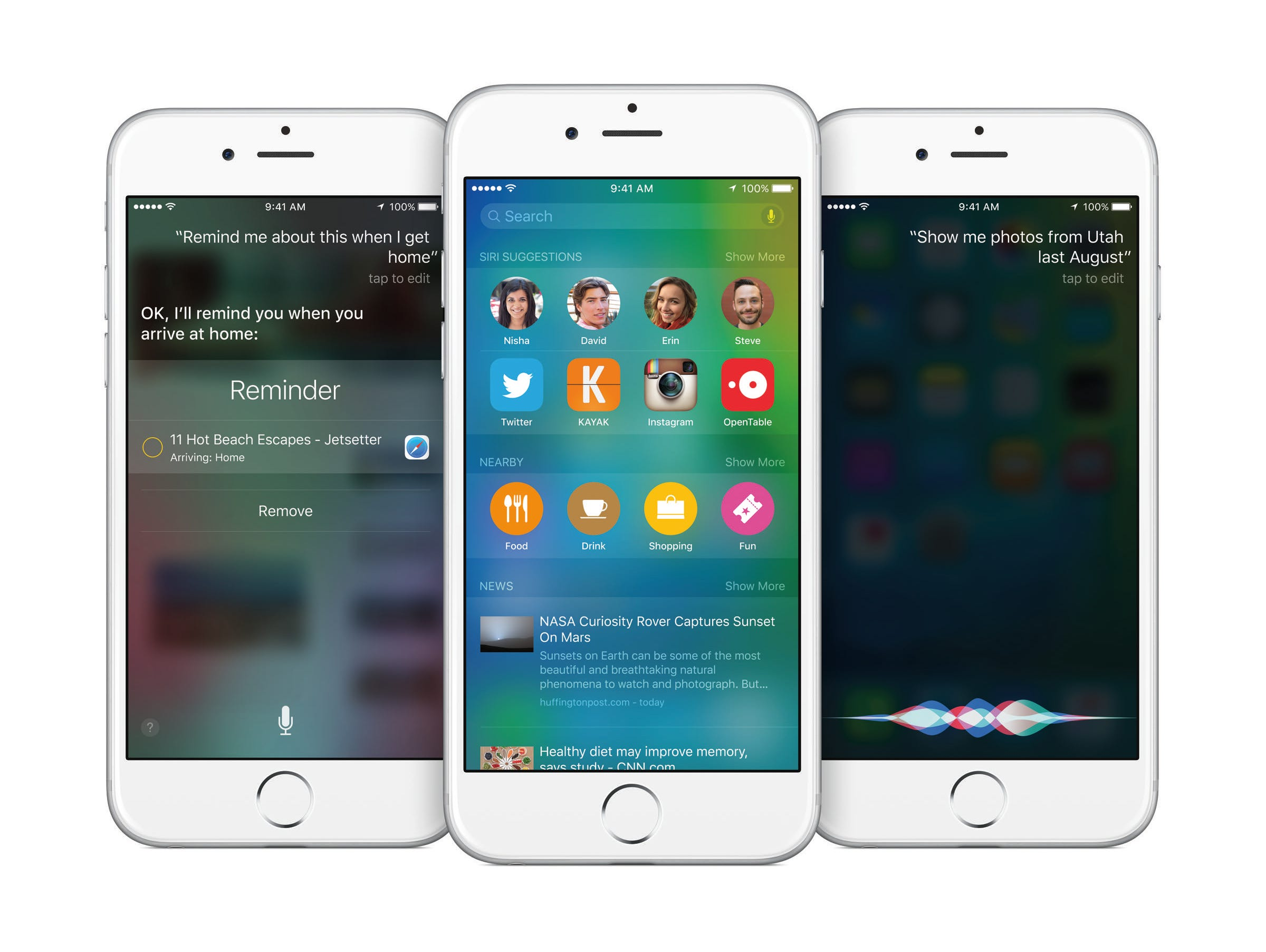 iOS 9 software is at the core of iPhones and iPads