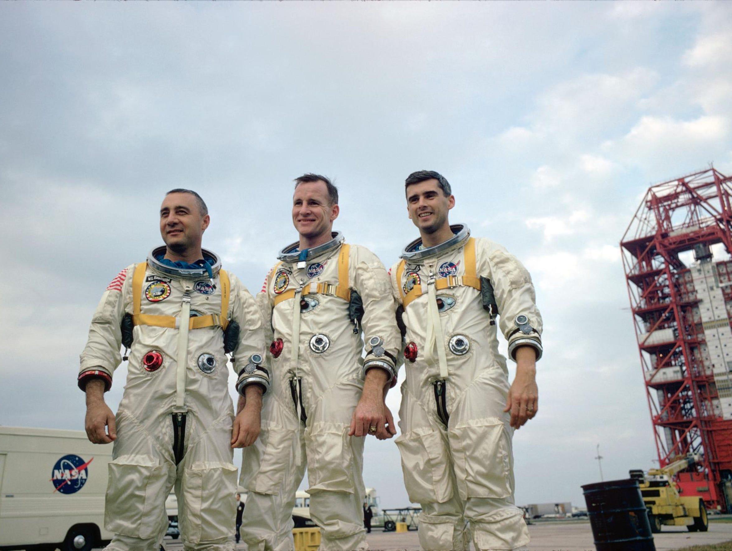 January 1967. The prime crew of the National Aeronautics