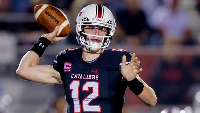 CSU commit Matthew Baldwin has thrown for 1,867 yards, 24 touchdowns and two interceptions in five games this season for Lake Travis High School in Texas.