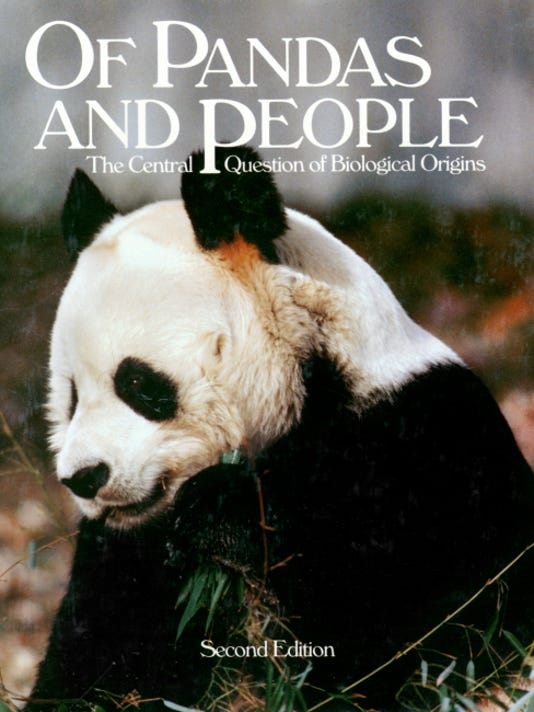 "SUBMITTED   The textbook ""Of Pandas and People"" was at issue in the Dover Intelligent Design trial."