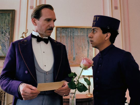 """Ralph Fiennes (left) and Tony Revolori star in Wes Anderson's """"The Grand Budapest Hotel,"""" a wildcard in the best-picture category."""