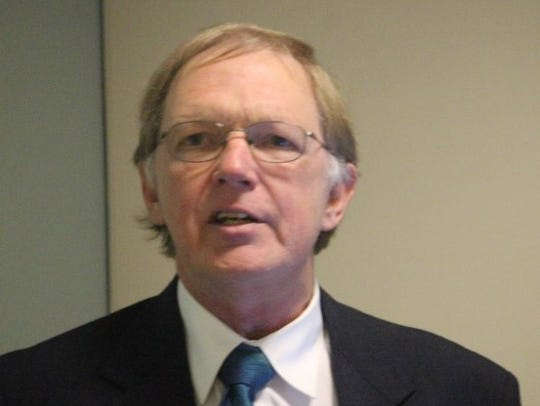 Dr. Bill Griffith of Anderson speak Sunday during an