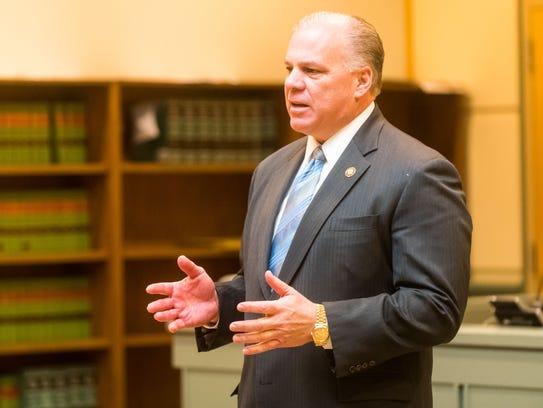 New Jersey Senate President Stephen M. Sweeney delivers