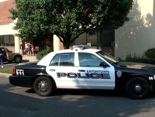 An Eatontown police patrol car on duty.