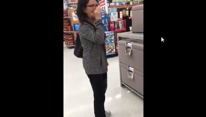 A video of a woman taken Friday at a Walmart in Appleton went viral after being shared on Facebook.
