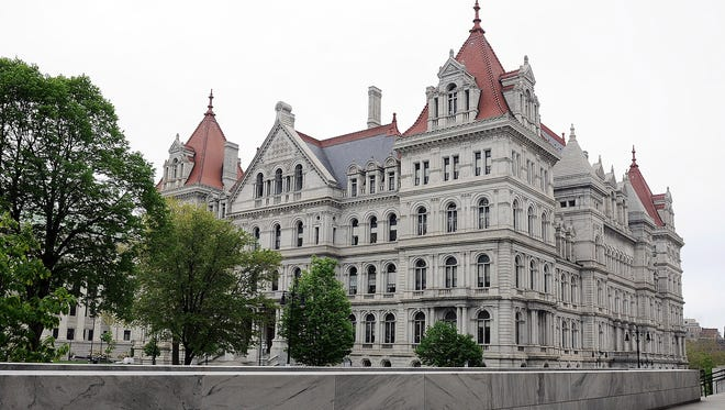 Exterior view of the New York state Capitol Wednesday, May 16, 2018, in Albany, N.Y.