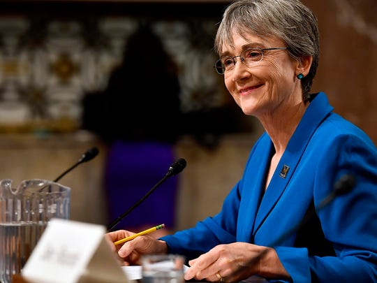 Heather Wilson was confirmed as the new Secretary of the Air Force by the Senate May 8, 2017.
