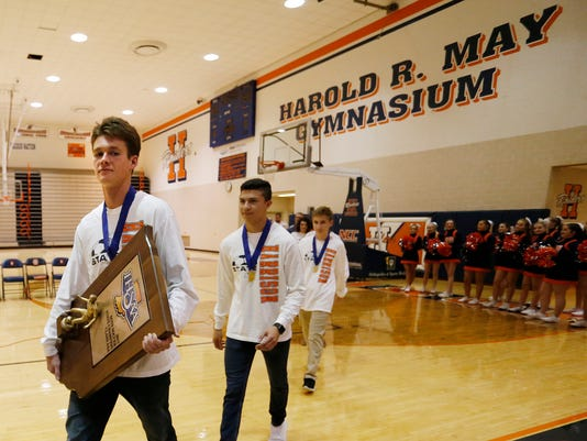LAF Harrison Soccer State Champions Honored