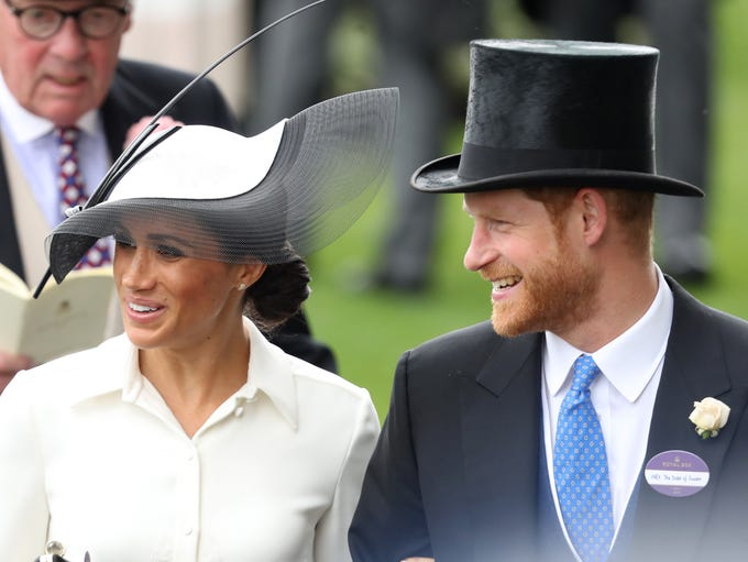 Hats on to newlyweds Meghan, Duchess of Sussex and