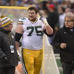 Packers offensive lineman David Bakhtiari sustained a concussion in the team's playoff loss to San Francisco in January.