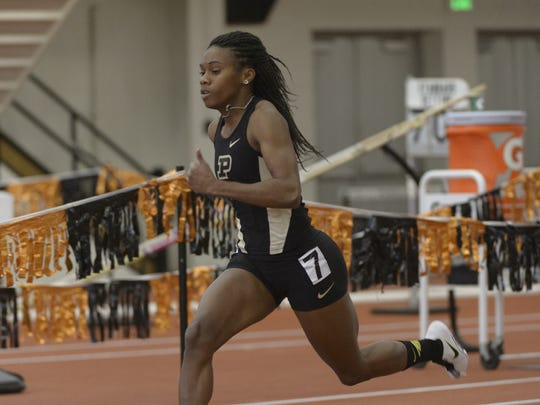 Purdue's Devynne Charlton was selected Big Ten Track Athlete of the Championships for the second consecutive year.
