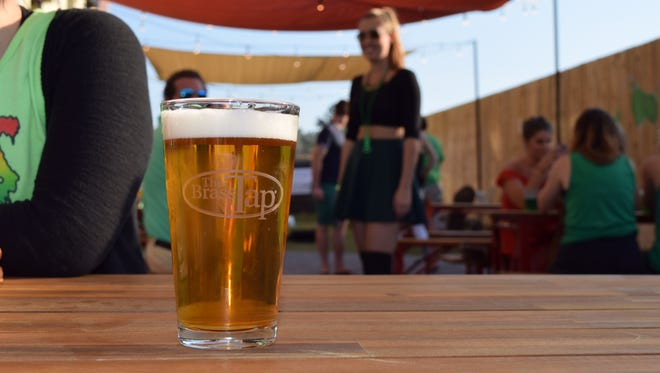 The Brass Tap-Downtown on Ganes Street has doubled its space by adding a German-inspired biergarten.