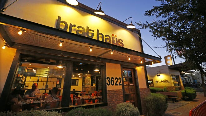 The exterior of Brat Haus in downtown Scottsdale.