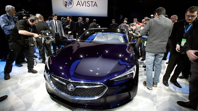 Buick Avista concept is revealed to the news media on the eve of the 2016 North American International Auto Show.