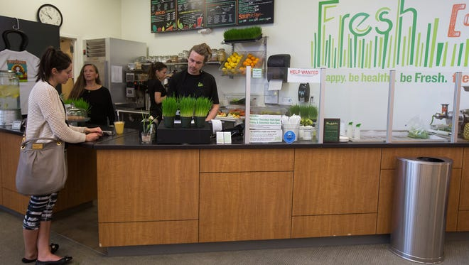 The Fresh Cafe & Market is located inside the YMCA Healthy Living Center in Clive, Thursday, March 31, 2016.