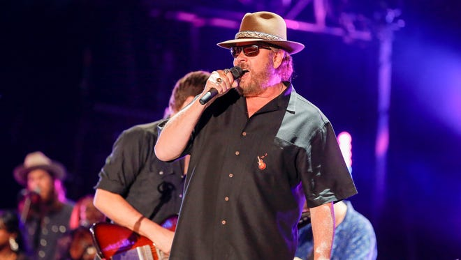 Hank Williams Jr. performs at the CMA Music Festival at Nissan Stadium on Friday, June 10, 2016, in Nashville, Tenn.