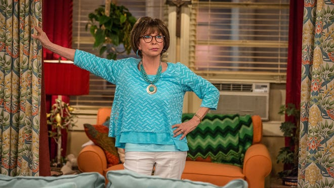 """Rita Moreno as Lydia in a scene from the television series """"One Day at a Time."""""""