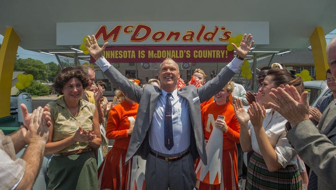 """McDonald's founder Ray Kroc is the subject of """"The Founder,"""" starring Michael Keaton. The movie opens Thursday at Regal West Manchester Stadium 13."""
