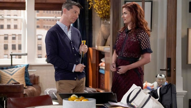 Sean Hayes, left, and Debra Messing on NBC's 'Will & Grace' revival, which contributed to this season's record number of LGBTQ characters on TV.