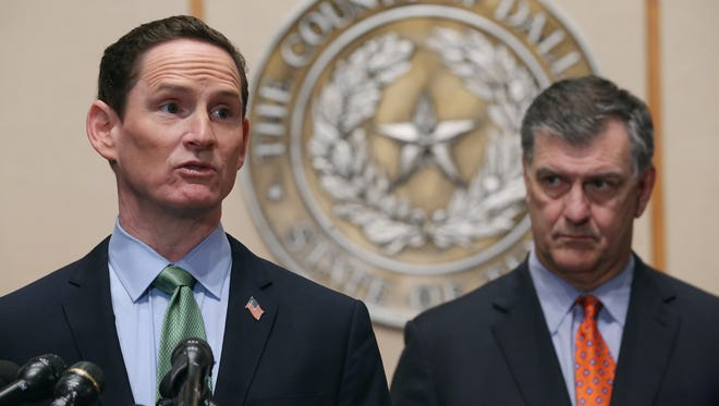 Dallas County Judge Clay Jenkins speaks at news conference about the recent Ebola infections October 20, 2014.