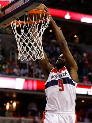 Wizards forward Martell Webster dunks during a playoff game against the Bulls.