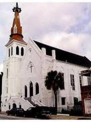Emanuel African Methodist Episcopal Church sits at