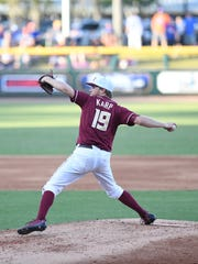 Florida State starting pitching Andrew Karp surrendered four runs while striking out five batters in five innings of work against Florida on Tuesday evening.