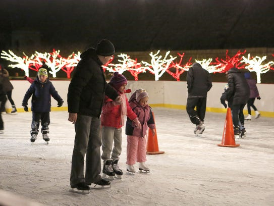 There's skating at the Westchester Winter Wonderland.